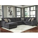 Ashley Tracling Sectional with Left Chaise - Item Number: 7260016+34+67