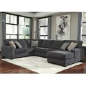 Benchcraft Tracling Sectional with Right Chaise - Item Number: 7260066+34+17