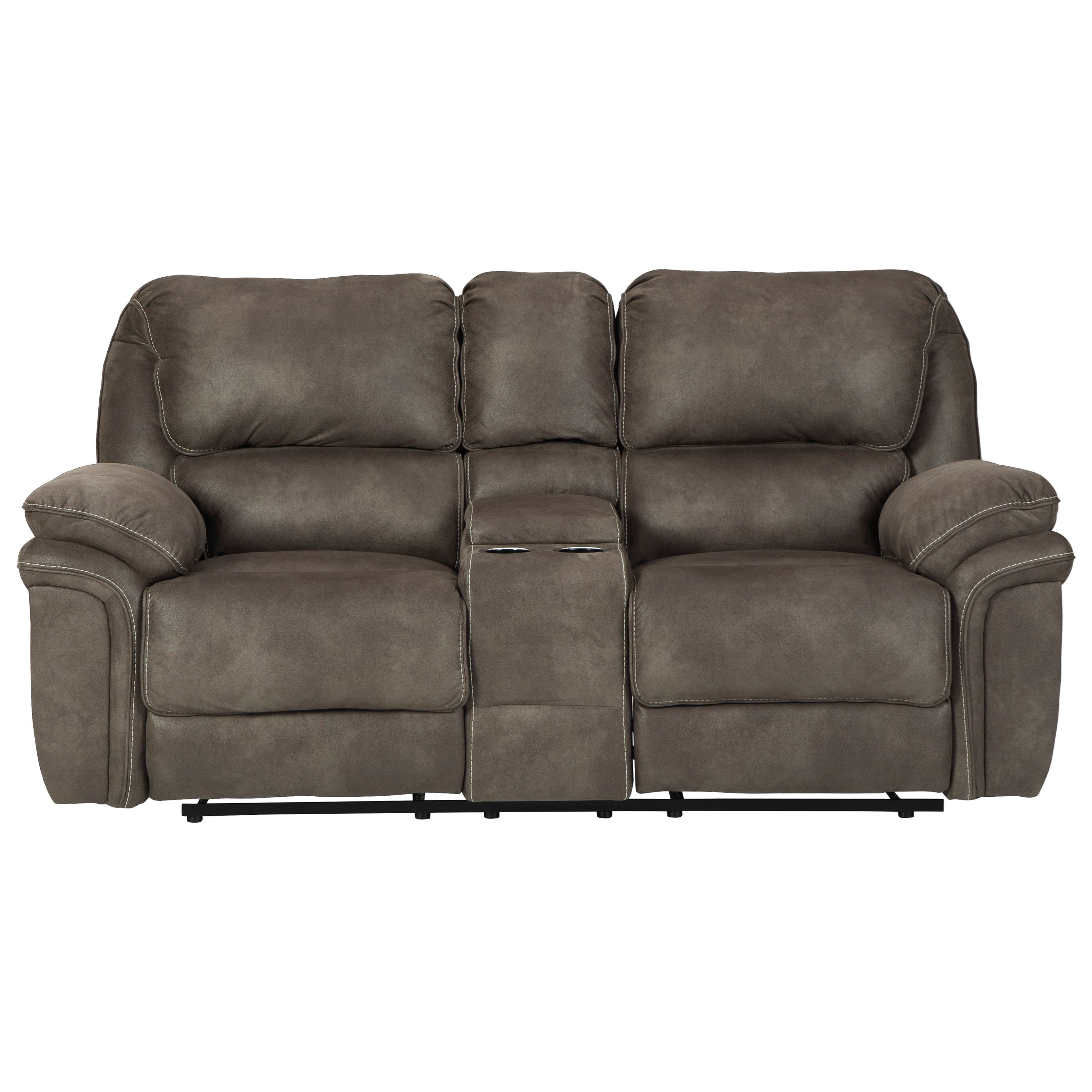 Trementon Double Reclining Power Loveseat w/ Console by Benchcraft at Value City Furniture