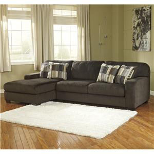 Benchcraft Westen - Chocolate 2-Piece Sectional with Left Chaise