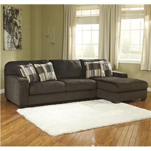 Benchcraft Westen - Chocolate 2-Piece Sectional with Right Chaise