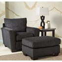 Benchcraft Wixon Chair & Ottoman - Item Number: 5700220+14