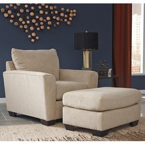Benchcraft Wixon Chair & Ottoman