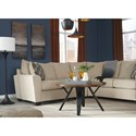 Benchcraft Wixon 2-Piece Corner Sectional with Rounded Track Arms