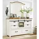 Benchcraft Wystfield Dresser and Mirror Set - Item Number: B549-31+36
