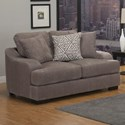 Benchley Furniture Co. Rowland Stationary Loveseat - Item Number: Rowland Loveseat ST-Smoke