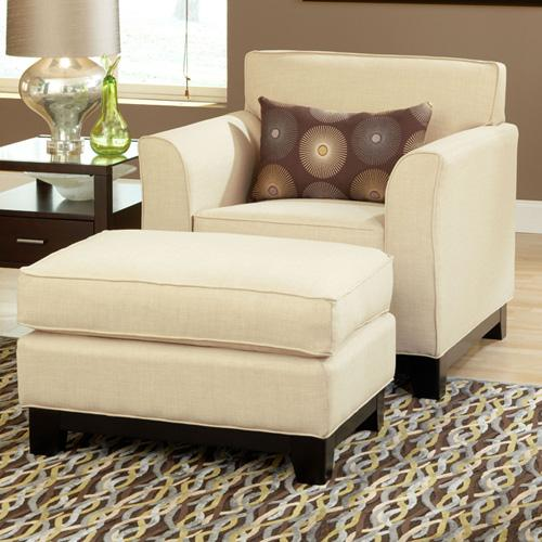 Belfort Essentials Chantilly Chair and Ottoman - Item Number: 7100-10+7100-00