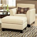 Belfort Essentials Chantilly Chair and Ottoman