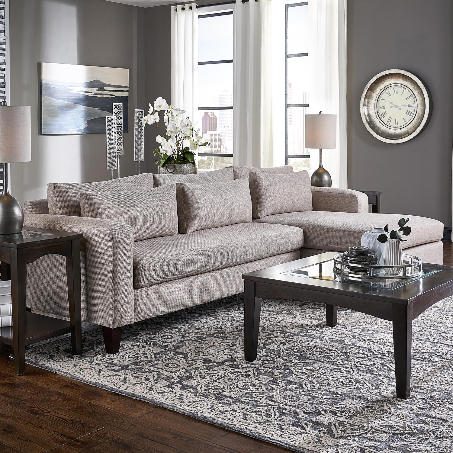 Parker Sofa Chaise by Belfort Essentials at Belfort Furniture