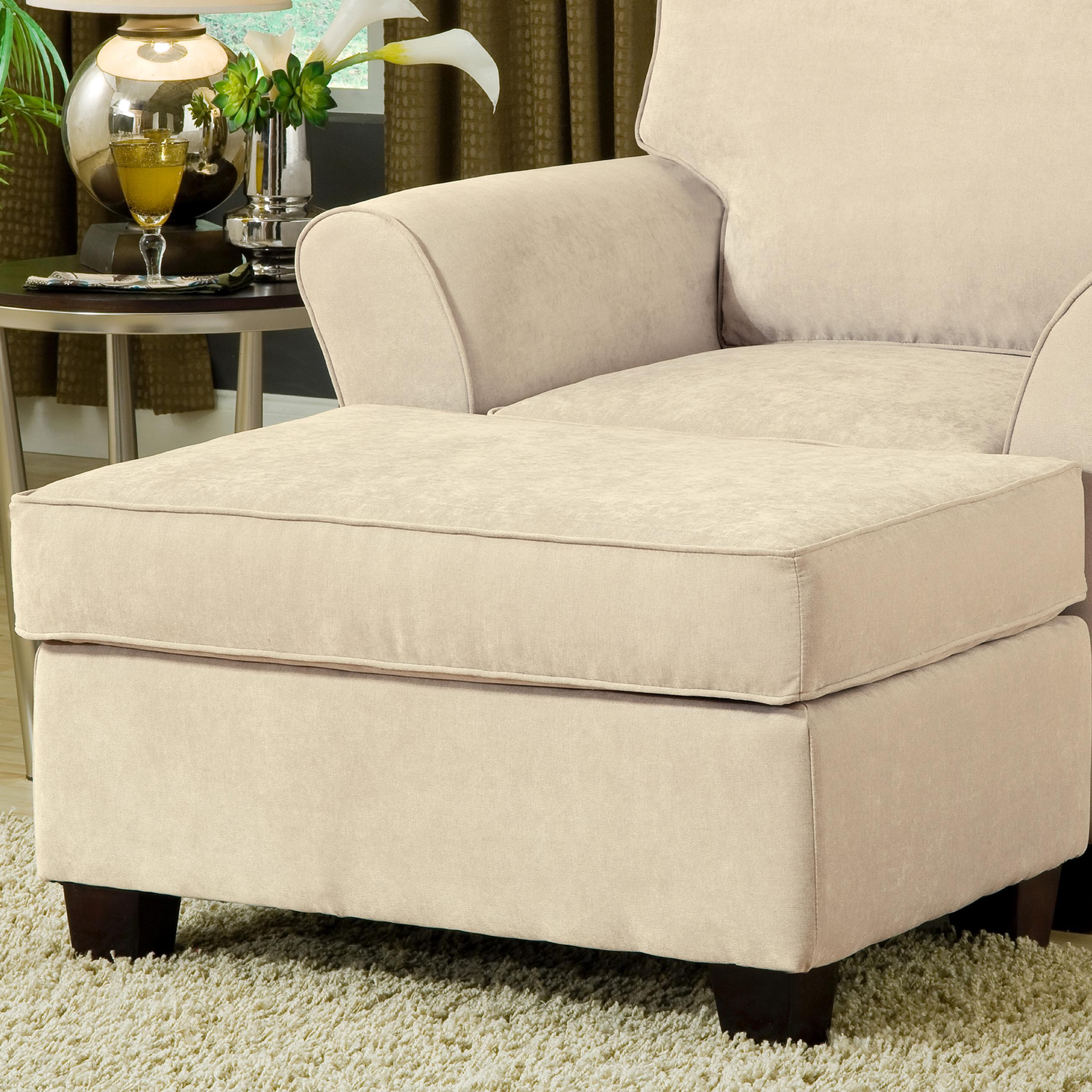 Belfort Essentials Addison Upholstered Ottoman - Item Number: 8400-OO