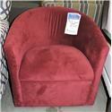 Belfort Essentials Clearance Swivel Barrel Chair - Item Number: 396949624
