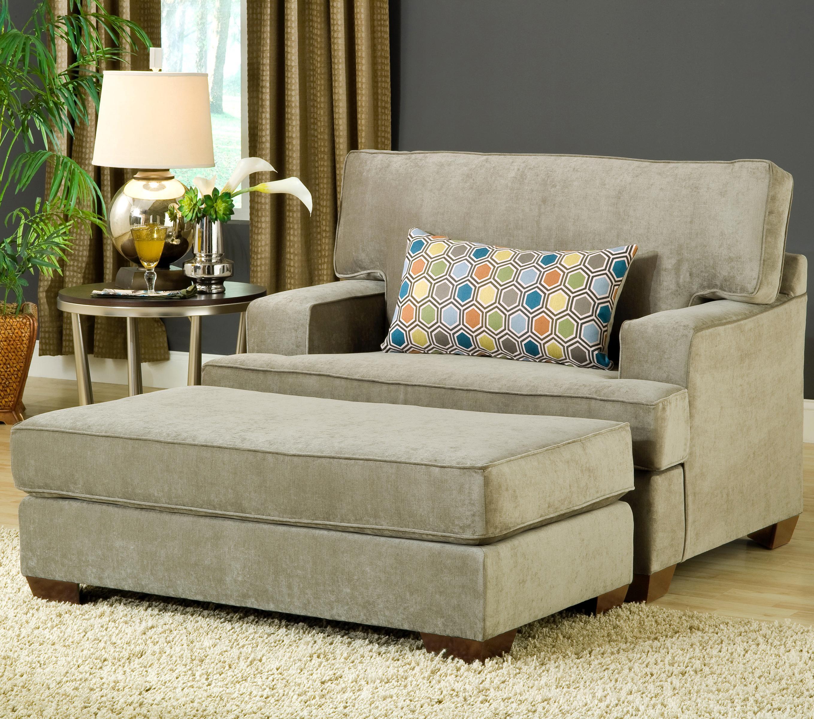 Belfort Essentials Daniel Chair and Ottoman - Item Number: 5900-10+OO