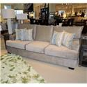 Belfort Essentials Daniel Sofa with Short Track Arms and Wood Block Legs