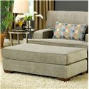 Belfort Essentials Daniel Upholstered Ottoman with Welt Cords and Wood Block Legs
