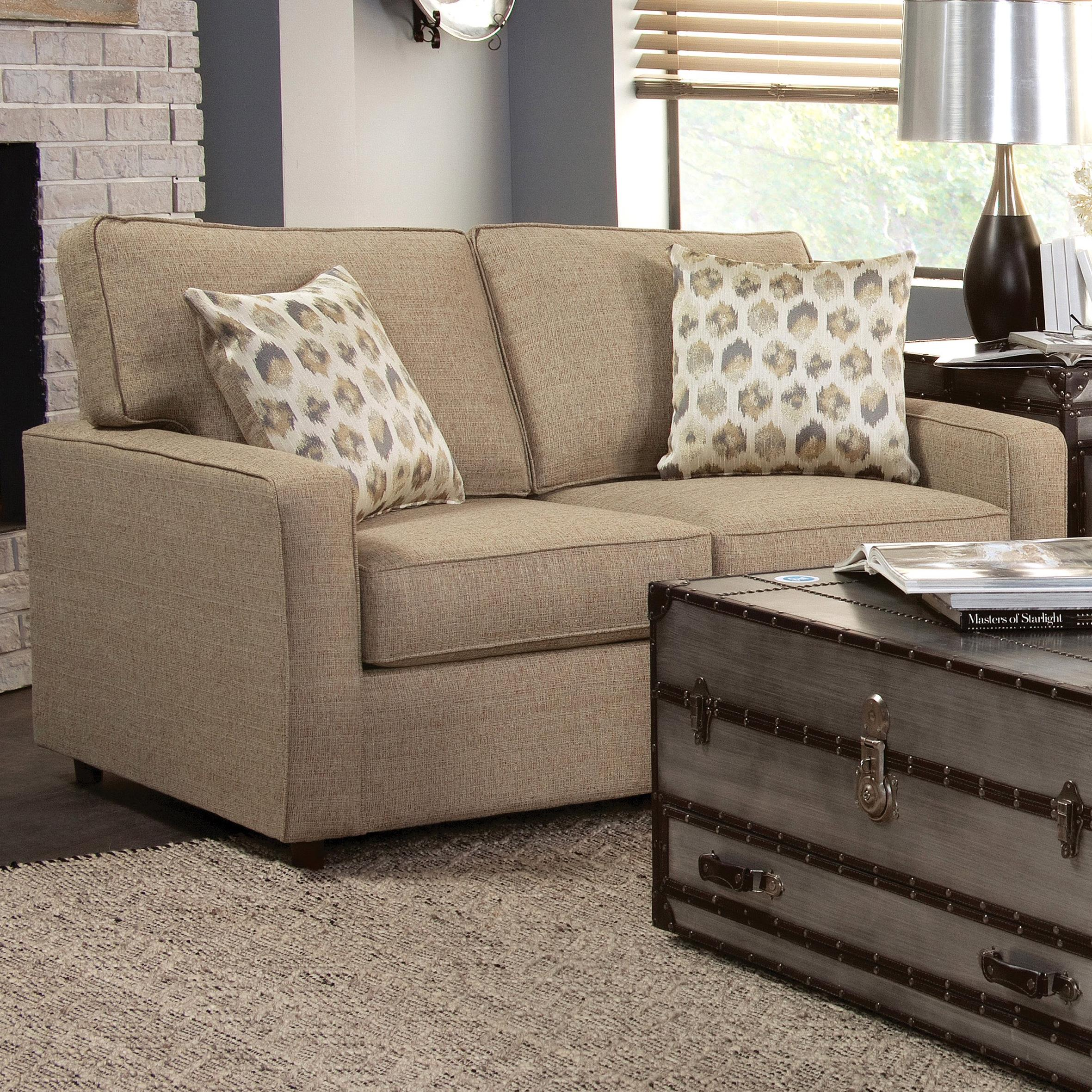 Belfort Essentials Eliot Loveseat - Item Number: 9200-20-Brown