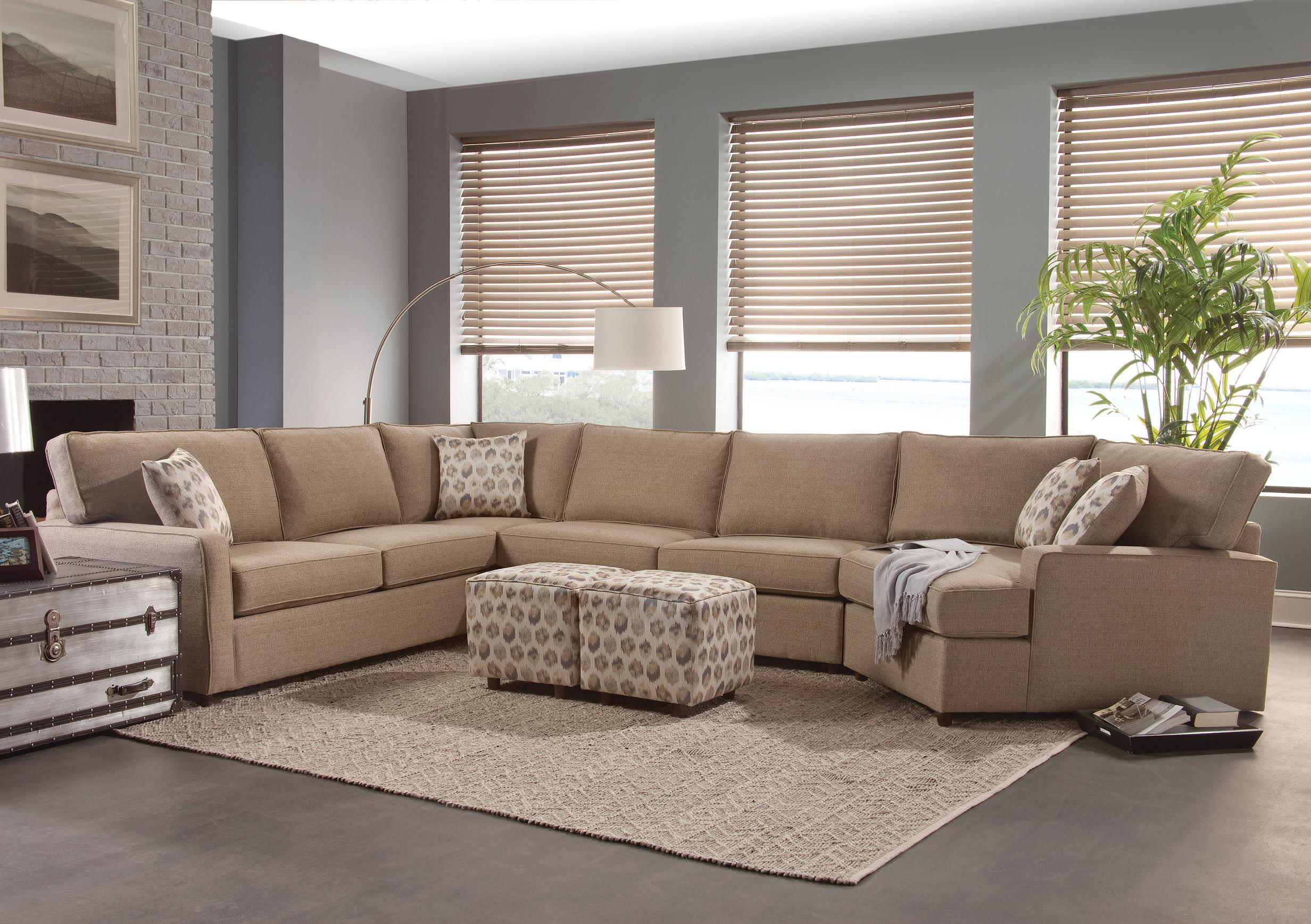 Belfort Essentials Eliot Transitional Sectional Sofa Belfort