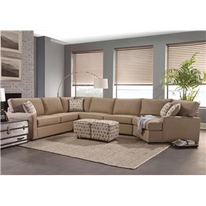 brush grey com amazon microfiber dp small configurable sofa sectional soft modern space couch