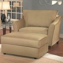 Belfort Essentials Fleetwood Chair and Ottoman with Block Feet