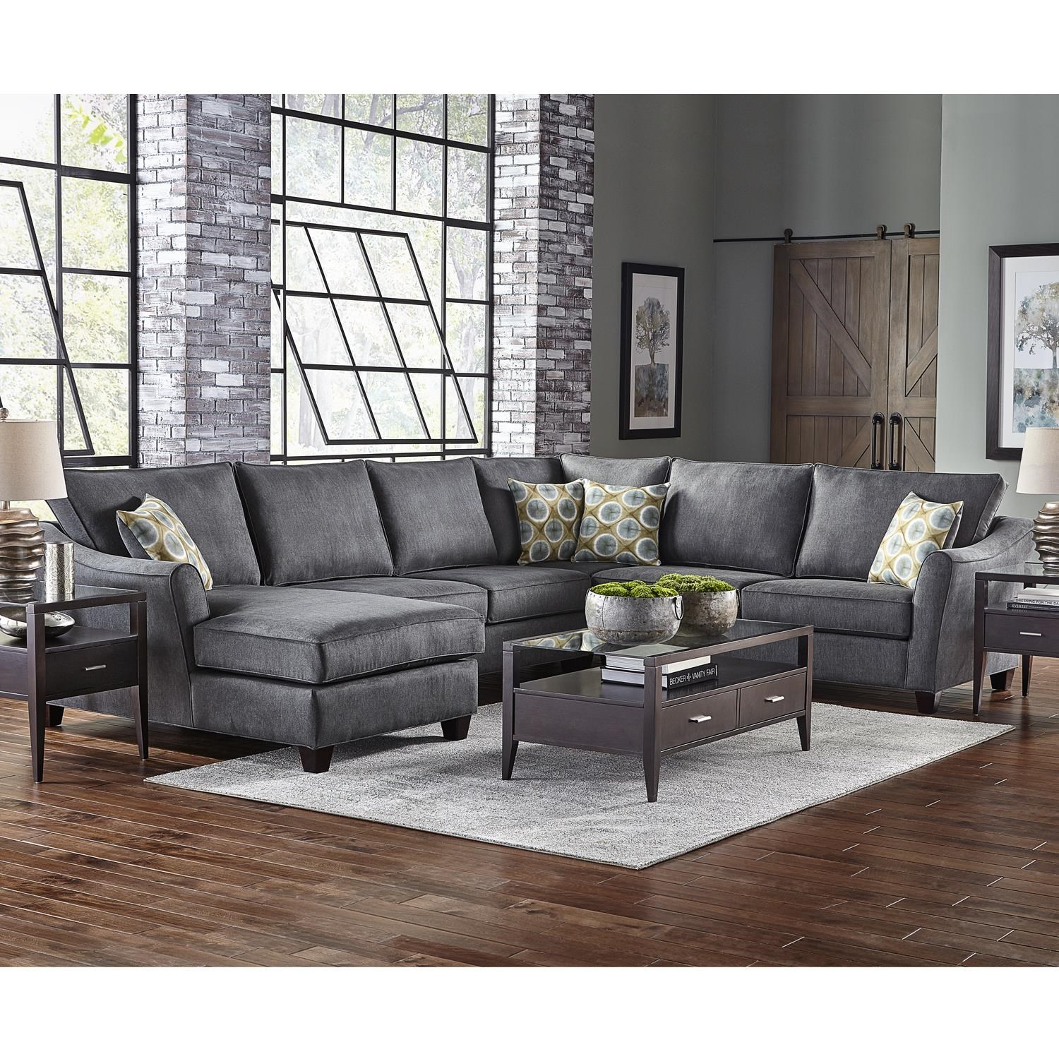 6 Seat Sectional with Left Facing Chaise