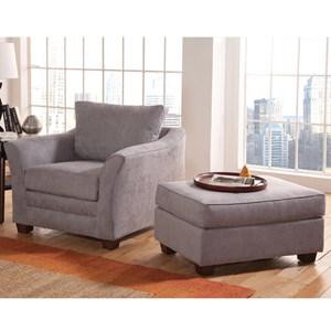 Belfort Essentials Hatfield Chair and Ottoman Set