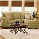 Belfort Essentials Julian Casual Sectional with Movable Chaise - Shown with Chaise on Right Side