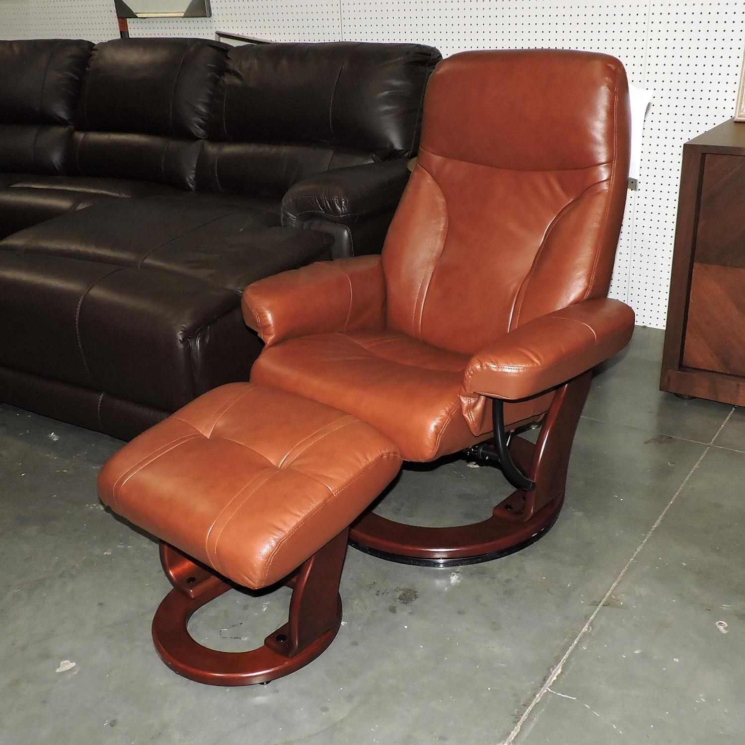 Benchmaster Clearance Milano Recliner and Ottoman - Item Number: 544118972