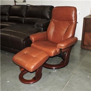 Benchmaster Clearance Milano Recliner and Ottoman