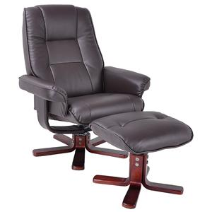 Sophisticated Chair and Ottoman for Offices and Dens