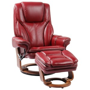 Reclining Chair and Ottoman with Pillow Arms