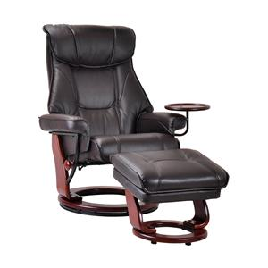 Contemporary Styled Chair and Ottoman Set