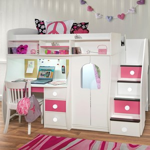 Berg Play and Study Twin Loft Bunk Bed