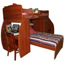 Berg Space Saver Twin Over Twin Bunk Bed with Desk & Chest - Shown with a Matching Chair, Sold Separately