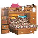 Berg Space Saver Twin Over Full Bunk Bed with Chest