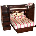 Berg Space Saver Twin Over Full Bunk Bed with Chest - Top View