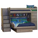 Berg Space Saver Twin Over Full Bunk Bed - Item Number: 22-816-80
