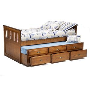 Bernards Logan Twin Captain's Bed with Trundle & Drawers