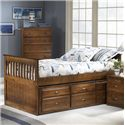 Bernards Logan Twin Captain's Bed with Trundle & Drawers - Chest and Dresser Shown No Longer Available