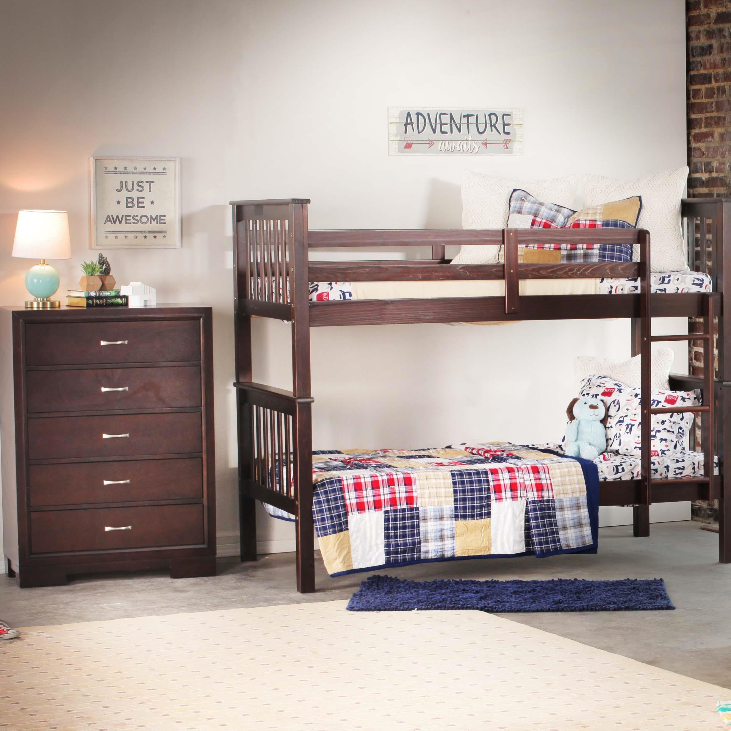 Merlot Bunk Bed with Chest