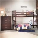 Bernards Sadler Merlot Bunk Bed with Chest - Item Number: 3729 Group