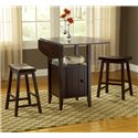 Bernards Wenge 3 Pc Drop Leaf Pub Set with Stools - Item Number: 5014