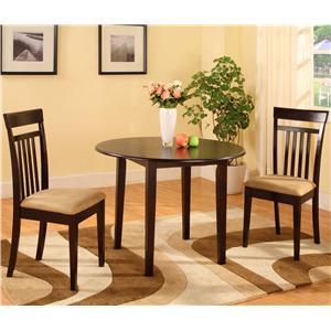 Morris Home Furnishings 5808 3 Piece Drop Leaf Dinette