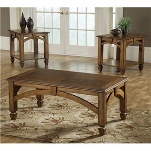 Morris Home Furnishings Arch 3 Pack Wood Occasional Tables