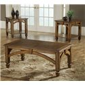 Morris Home Arch 3 Pack Wood Occasional Tables - Item Number: 8614