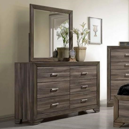 Bernards Asheville Dresser & Mirror - Item Number: 1653+54