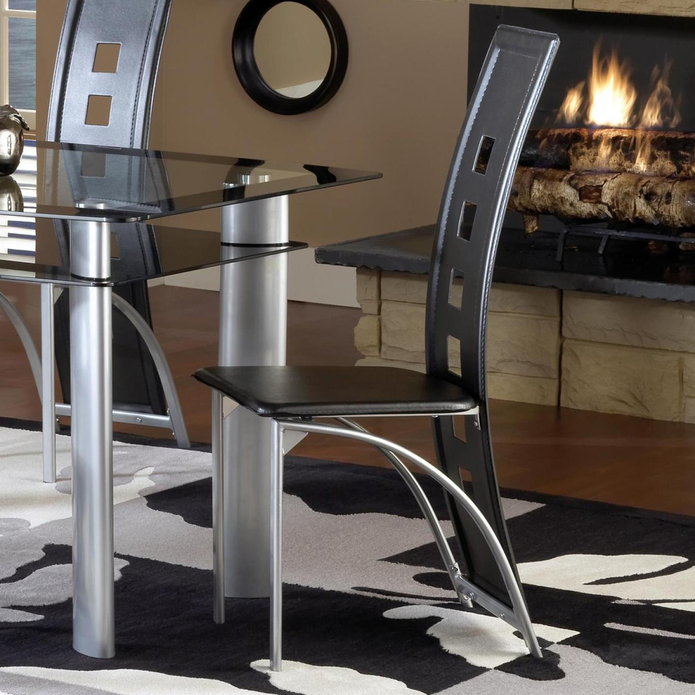 Bernards Astro Dinette Chair - Black - Item Number: 4101
