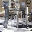 Morris Home Furnishings Astro Pub Table - Black / Satin Silver - Item Number: 4102