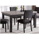 Bernards Brockton Faux Concrete Dining Table - Item Number: 4835-500