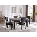 Bernards Brockton 5 Piece Table and Chair Set - Item Number: 4835-500x4-510
