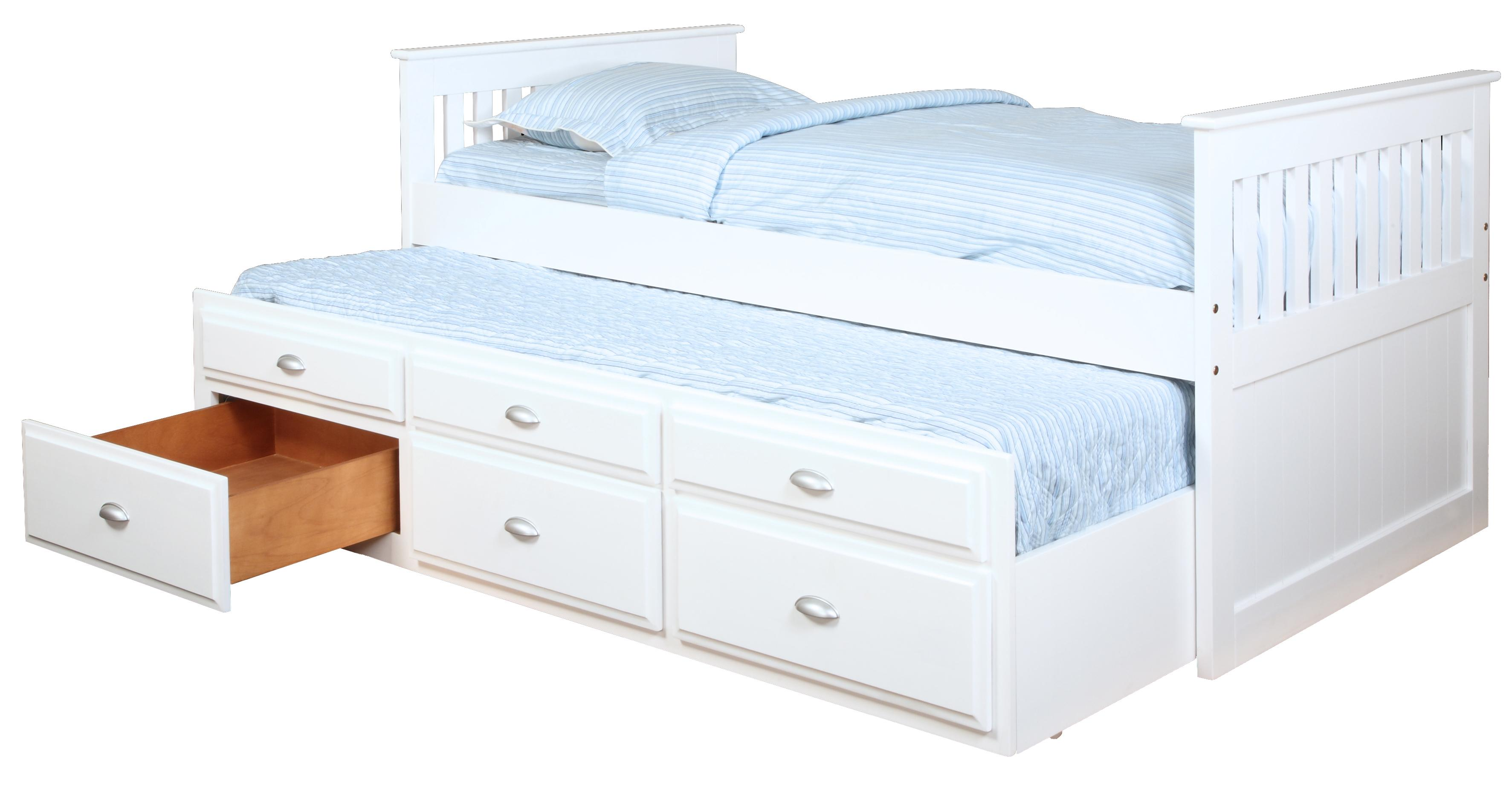 Bernards Captains Beds Captain's Bed with Trundle and Storage - Item Number: 3042V