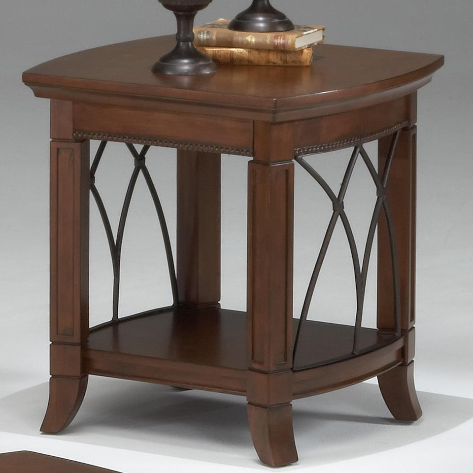Bernards Cathedral Cherry End Table - Item Number: 8621